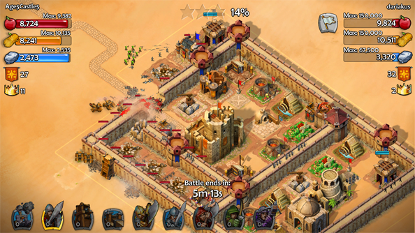 Castle Siege: a not-entirely-recognisable rendering of Age of Empires.