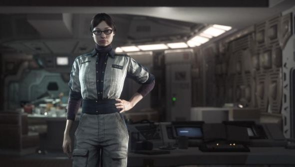 Alien: Isolation stars Amanda, the daughter of Ellen Ripley. This is not she.