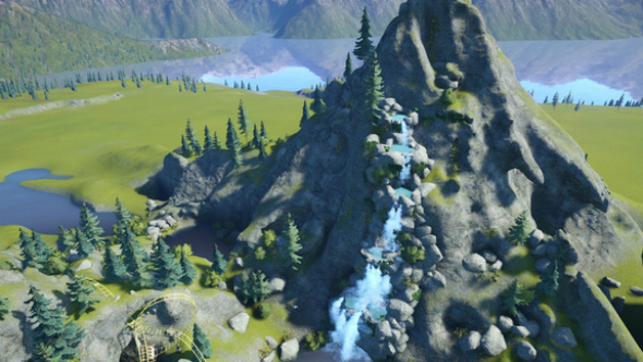 alpine waterfall planet coaster creations