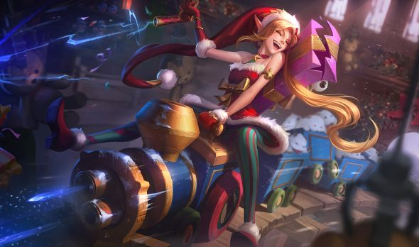 Ambitious Elf Jinx splash art