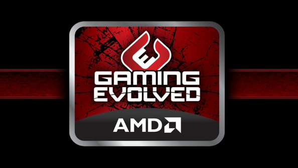 The AMD Gaming Evolved logo.