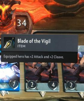 artifact cards blade of the vigil