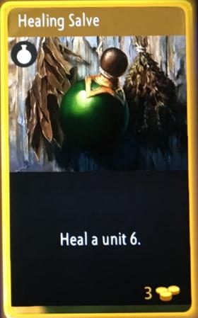 artifact cards healing salve
