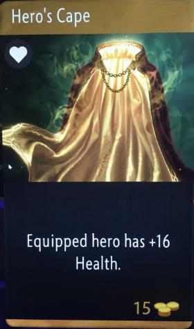 artifact cards heros cape