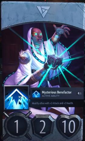 artifact cards mysterious benefactor
