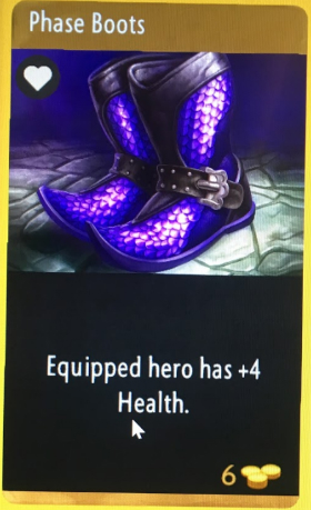 artifact cards phase boots