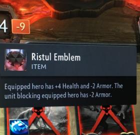 artifact cards ristul emblem