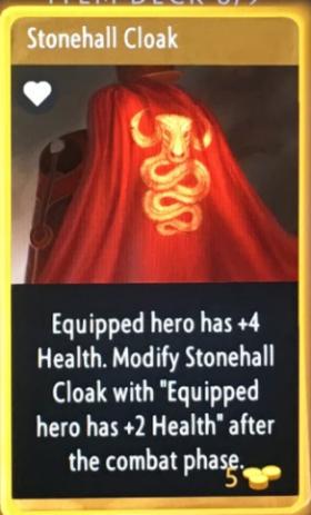 artifact cards stonehall cloak