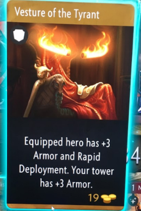 artifact cards vesture of the tyrant