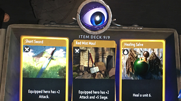 artifact heroes board items