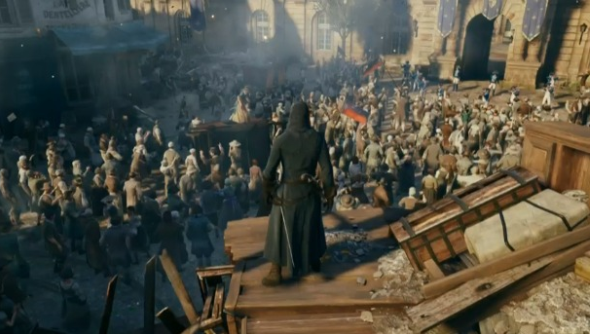 assassin's creed unity patch bugs framerate crowd size ubisoft