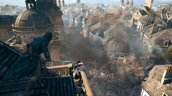 This Assassin's Creed Unity GamesCom trailer is bloodless and beautiful