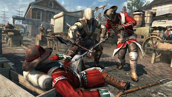Assassin's Creed 3 trailer shows off engine AnvilNext, to the tune of 2,000 NPCs in one battle sequence