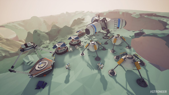Astroneer trailer is absolutely lovely space-Minecraft of bounding around