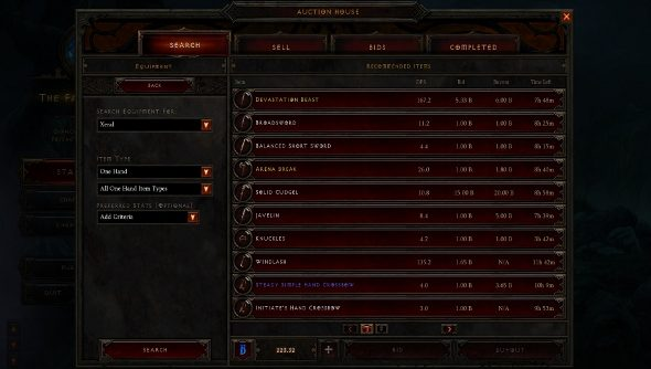 Diablo III auction house gone tomorrow