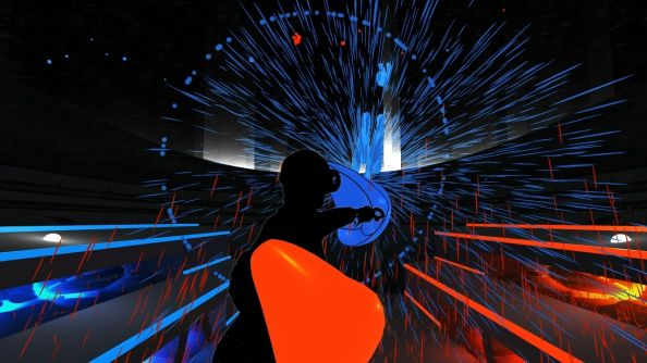 Audioshield is the VR followup to Audiosurf, lets you punch your music