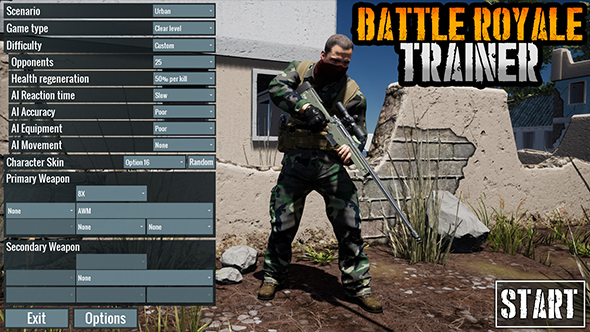Battle Royale Trainer on Steam tries to let you practice