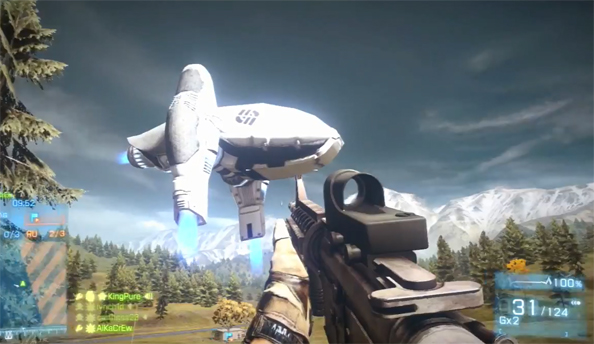 Battlefield 2142 easter egg bobs about aimlessly in Battlefield 3: End Game