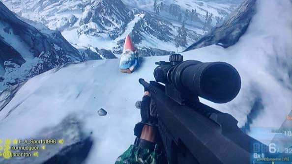 This gnome from Battlefield 3: Armored Kill looks a little familiar