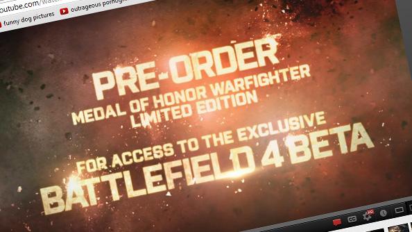 Battlefield 4 beta will definitely, absolutely be a Medal of Honor Warfighter pre-order bonus