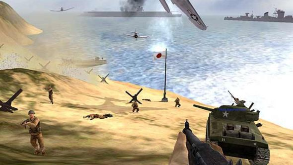 Battlefield 1942 + the road to rome + secret weapons of wwii on.