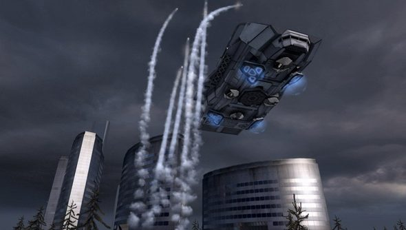 A Battlefield 2142 Titan. And some missiles.