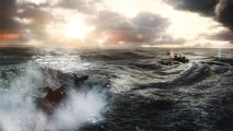 The road to Naval Strike release has been rocky. A little like this stretch of sea, you see.