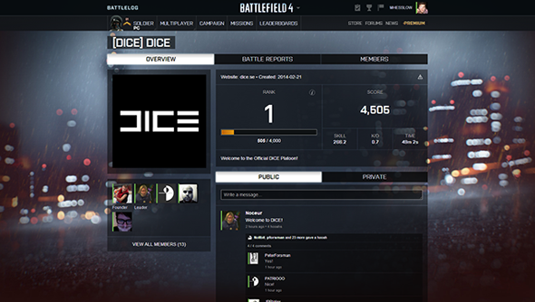 Battlefield 4 launched without any kind of pre-match grouping system.
