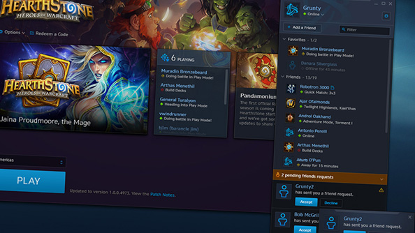 Battle.net chat will be visible in-game.