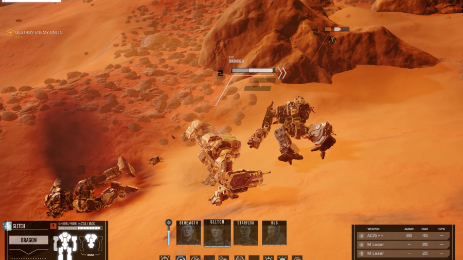 battletech knockdown