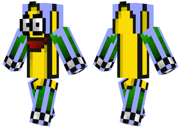 best minecraft skins banana