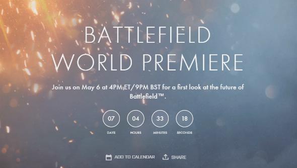 Battlefield 5 World Premiere countdown