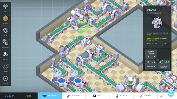 Big Pharma is a colourful tycoon game that explores an ugly industry