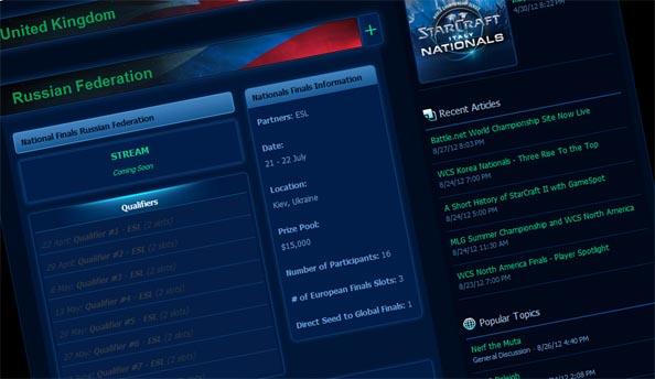 Blizzard launch Battle.net World Championship site