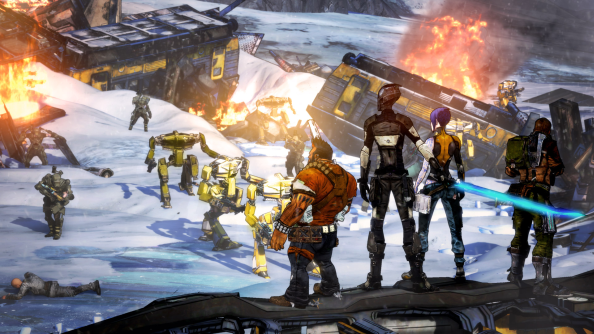 "Borderlands 2 DLC winding down. Pitchford says ""It's not fair for me to say there's another season."""