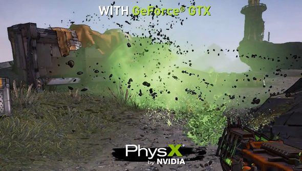 Here's Borderlands 2 running on maximum settings, with PhysX
