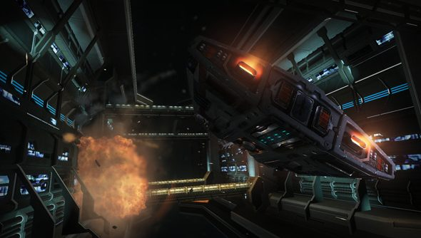 Ginormous space stations in Elite: Dangerous - best viewed through the Rift.