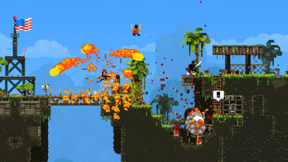 Punch terrorism right in the genitals: Broforce explodes all over Steam Early Access