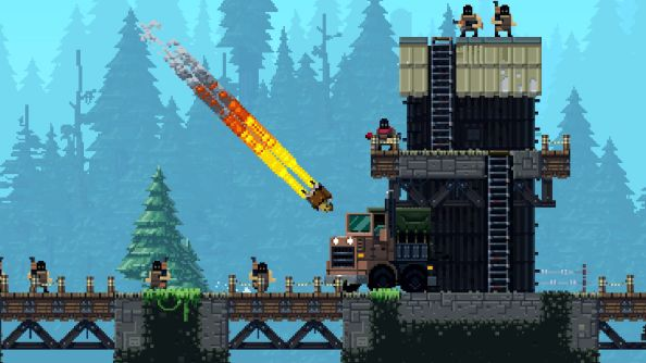 Broforce release date set for October 15th, flags will be flown, apple pie made, guns fired wildly into the air