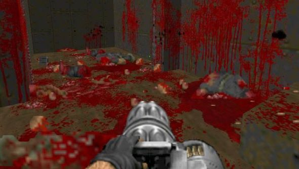 In Brutal Doom v20, the janitor is turned off by default. So it looks like this.