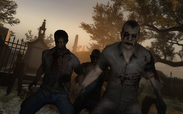 """L4D dev: when given the choice """"PC gamers pick a sniper rifle, console players pick up a chainsaw."""""""
