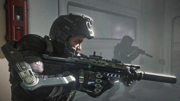 In Advanced Warfare, Troy Baker plays Private Mitchell. Who really ought to be named Parts, lolol.