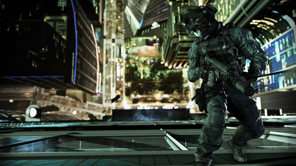 Call of Duty: Ghosts and a long drop.