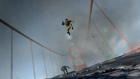 The Golden Gate Bridge, as you have never seen - okay, so we might have seen it broken more often than fixed.