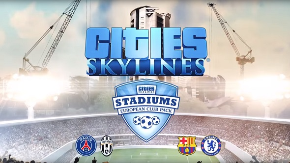 Bring FC Barcelona (or someone else) to your city in the European Club Pack for Cities: Skylines