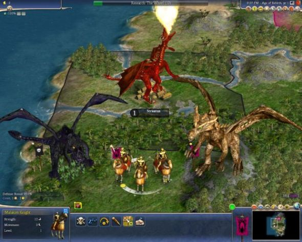 Dragons in Fall From Heaven II, a huge Civ 4 mod