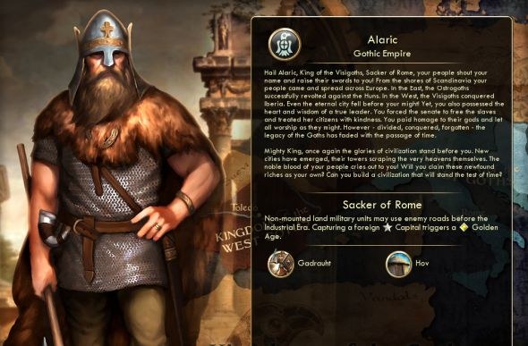 Alaric, from Tomatekh's Goths civ for Civ 5