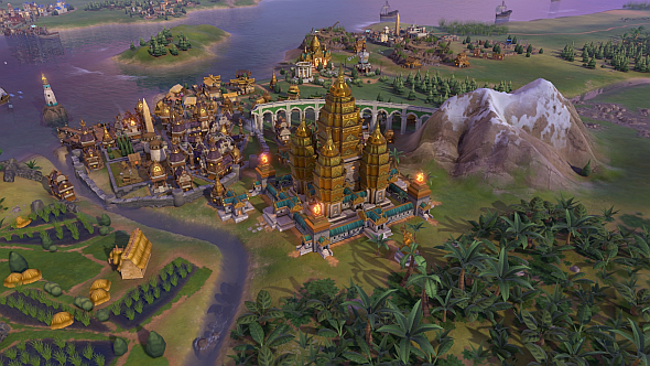 Angkor Wat, a new Wonder added in Civ 6's Indonesia and Khmer pack