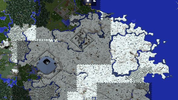 CivCraft features a world map.