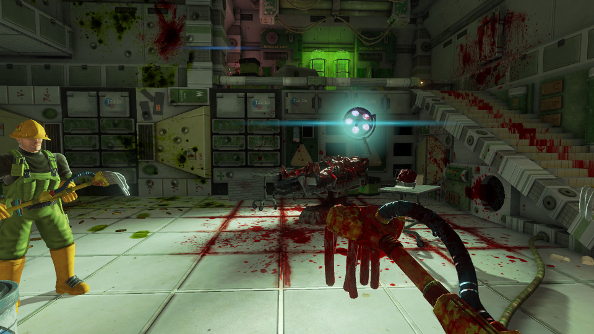 Viscera Cleanup Detail now caking the walls of Steam Early Access in gore